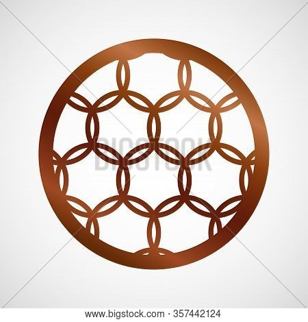 Vector Coaster Design For Laser Cut From Wood, Plywood Or Metal. Cutting Wooden Panel. Vector Illust