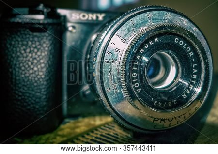 Stuttgart,germany - March 24,2020:weilimdorf This Is An Old Voigtlaender Lense,which Was Made In The