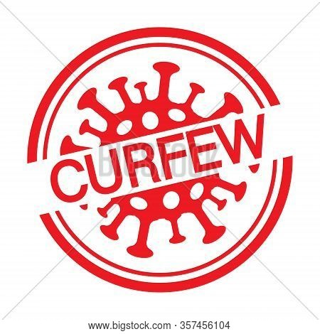 Pictogram Image Curfew Illustration. Coronavirus. Stay Home