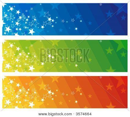 Farbe moderne Banner, Vektor