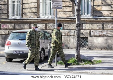 Zagreb, Croatia - March 22, 2020 : Capital Of Croatia, Zagreb Has Been Hit By The Earthquake 5.5 Per