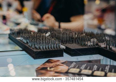 Diamond Corundum Cutters For Manicure. Nail Drill Bits For Manicure. Accessories Rotary Electric Nai