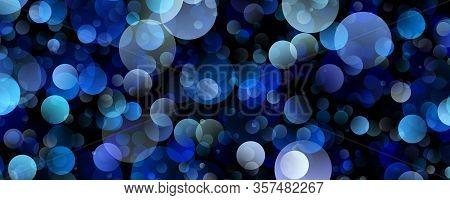 Fantastic Blue Bubble Panorama Background Design Illustration