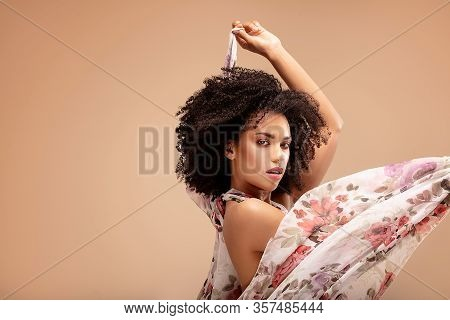 Beauty Portrait Of Afro Woman.