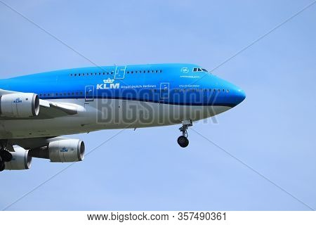 Amsterdam, The Netherlands - July 21st 2019: Ph-bfv Klm Royal Dutch Airlines Boeing 747-400m On Fina