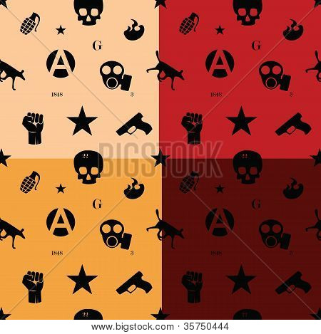 Protest Seamless Pattern In Colors
