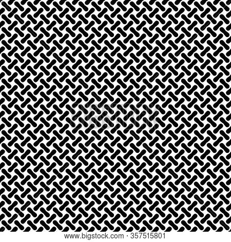 Seamless Background Pattern Of Metal Or Woven Fiber. Vector