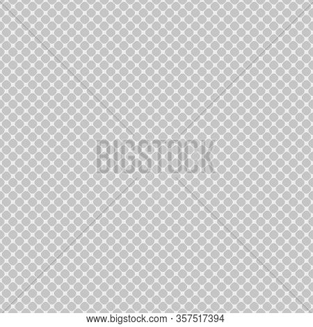 Seamless Diagonal Mesh Pattern Of Rounded Squares On White Background. Contrasty Halftone Grid Backg