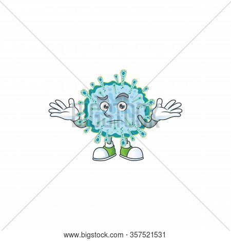 A Picture Of Smirking Coronavirus Illness Cartoon Character Design Style