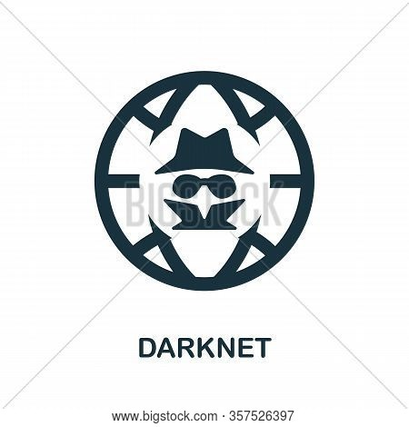 Darknet Icon. Simple Line Element Darknet Symbol For Templates, Web Design And Infographics