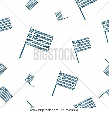 Greek Independence Day Seamless Pattern. National Freedom Holiday. Vector Illustration.