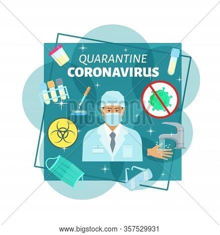 Coronavirus Epidemy Quarantine Medical Prevention. 14 Days Quaratine Method After Infection Of Virus