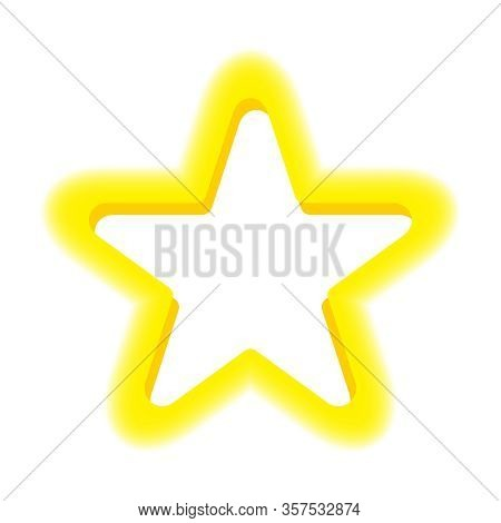 Star Frame Shape Blurred Edge Yellow For Copy Space, Speech Bubble Star Shaped For Text Box, Cute St
