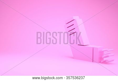 Pink Inhaler Icon Isolated On Pink Background. Breather For Cough Relief, Inhalation, Allergic Patie