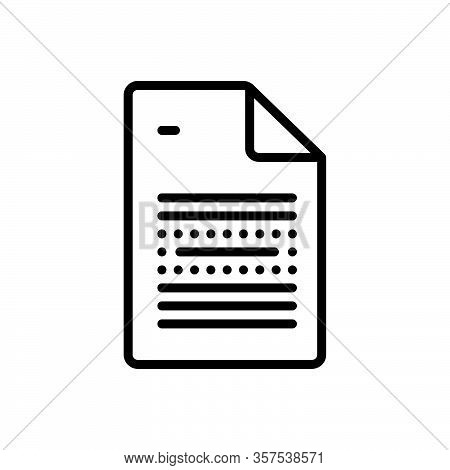 Black Line Icon For Emphasis Text Importance Insistence Priority Significance Preeminence