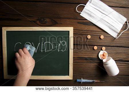 Chalk Board Green School Study Coronavirus Covid-19
