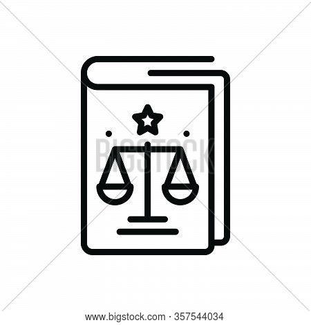 Black Line Icon For Regulation Law Precept Governance Compliance Book