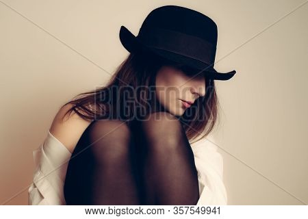 Beautiful Woman Portrait. Beauty Woman Face Portrait. Beautiful Model Woman Portrait. Stylish Woman