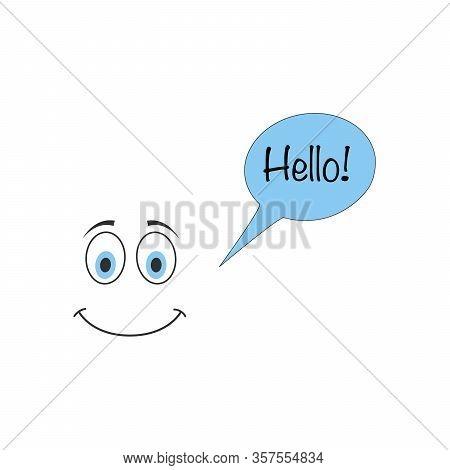 Hello Emoji Vector Icon On White Background. Flat Vector Hello Emoji Icon Symbol Sign From Modern Em