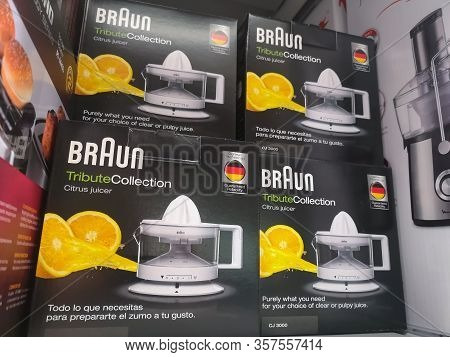 Braun Compactor On Shelf For Sale At Auchan Shopping Center On December 25, 2019 In Russia, Kazan, H