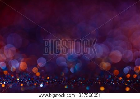 Decoration Twinkle Lights Background, Abstract Blurred Backdrop With Circles, Modern Design Wallpape