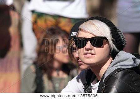 Brisbane, Qld Australia - August 11 : Unidentified Woman In Crowd On August 11 2012  In Brisbane, Au