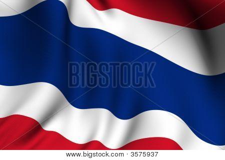 Rendered Thai Flag