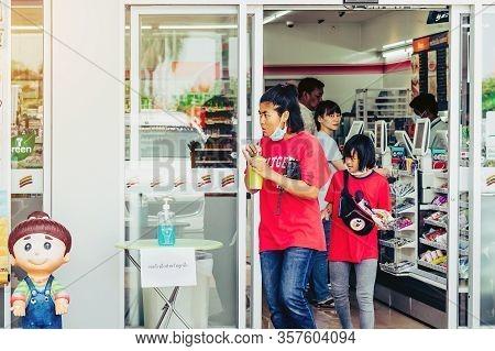 Kanchanaburi Thailand - March 22 : Coronavirus Hand Sanitizer Gel To Wash Hands For Flu Virus Preven