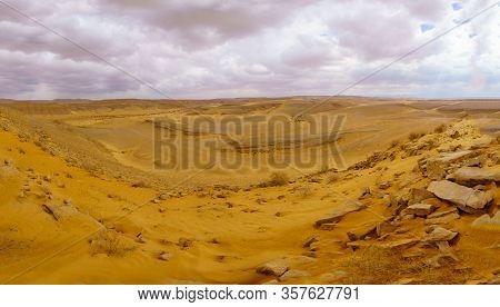 Desert Landscape In The Uvda Valley, The Negev Desert, Southern Israel