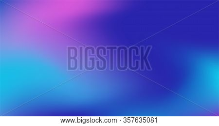 Blue Purple Pink Digital Gradient Background. Elegant Colorful Vibrant Defocused Horizontal Banner.