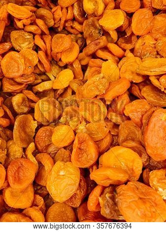 Lots Of Dried Sweet Apricot Apricot Dried Apricots As A Background