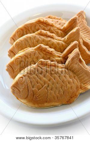 taiyaki, japanese fish shape cake poster
