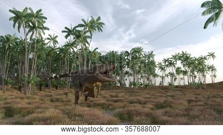 3d rendering of the alluring young tyrannosaurus