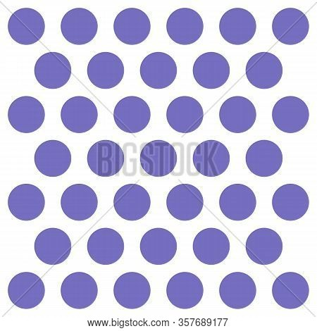 Easter Pattern Polka Dots. Template Background In White And Violet Polka Dots . Seamless Fabric Text