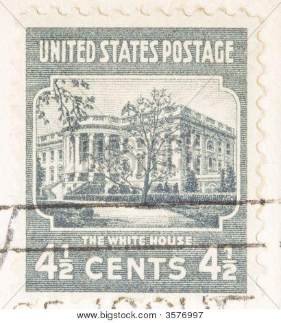 Vintage Usa 1938  White House Usa Postage Stamp