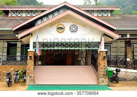 Sabah, My - June 18: Poring Hot Spring Visitor Centre Facade On June 18, 2016 In Sabah, Malaysia. Po