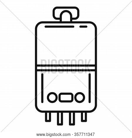 Domestic Boiler Icon. Outline Domestic Boiler Vector Icon For Web Design Isolated On White Backgroun