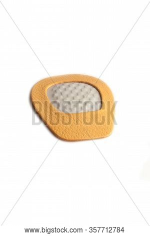 Orthopedic Silicone Heel From Corns For The Correction Of Different Lengths Of Legs Isolated On Whit