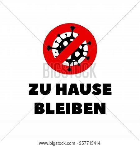 Germany Covid-19 Coronavirus Poster. Coronavirus Covid-19 Virus Symbol. Covid-19. Icon. Novel Corona