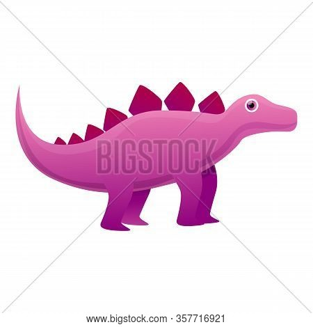 Prehistoric Dinosaur Icon. Cartoon Of Prehistoric Dinosaur Vector Icon For Web Design Isolated On Wh