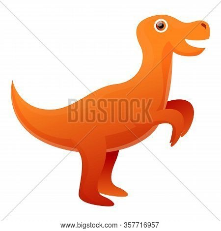 Rex Dino Icon. Cartoon Of Rex Dino Vector Icon For Web Design Isolated On White Background