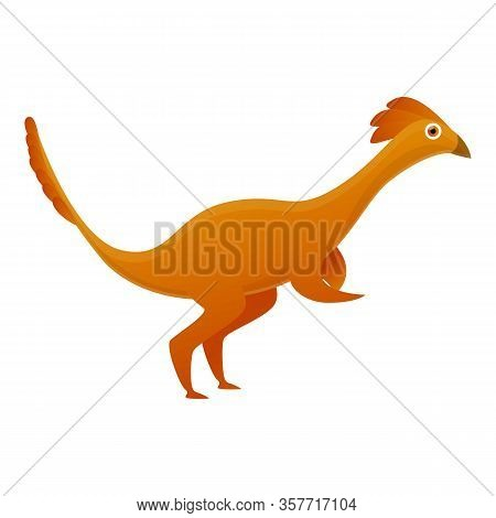 Velociraptor Icon. Cartoon Of Velociraptor Vector Icon For Web Design Isolated On White Background