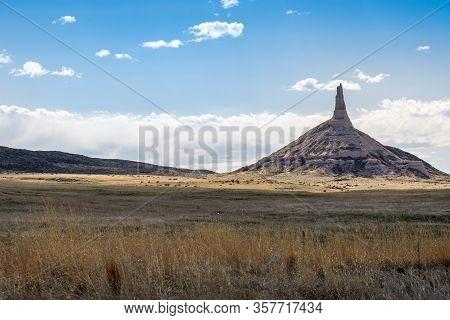 The Chimney Rock In Chimney Rock National Historic Site, Nebraska