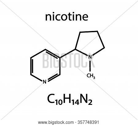 Nicotine Formula On A White Background. Vector Illustration.
