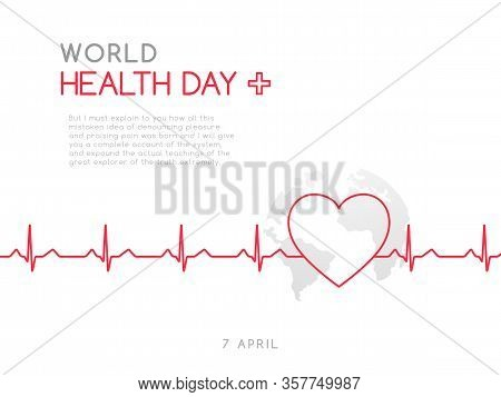 World Health Day, 7 April. Concept Medicine And Healthcare Banner. Stock Vector Illustration.