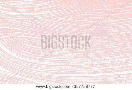 Grunge Texture. Distress Pink Rough Trace. Fine Background. Noise Dirty Grunge Texture. Tempting Art
