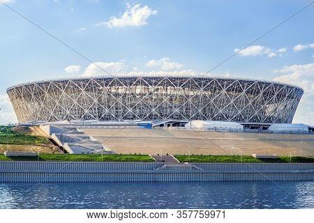Volgograd, Russia-july 22, 2019: Volgograd Arena Stadium In Volgograd. City On The Volga River , A H