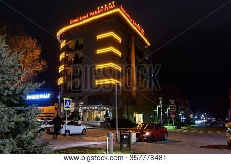 Anapa, Russia - March 3, 2020: The Building Of The Five-star Hotel
