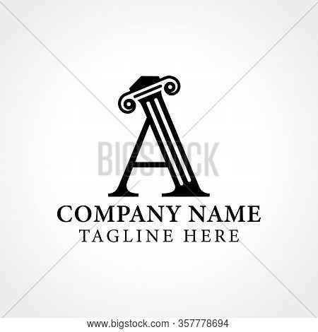 Attorney & Law Initial Letter A Logo With Creative Modern Typography Vector Template. Abstract Lette