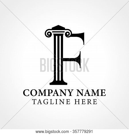 Attorney & Law Initial Letter F Logo With Creative Modern Typography Vector Template. Abstract Lette